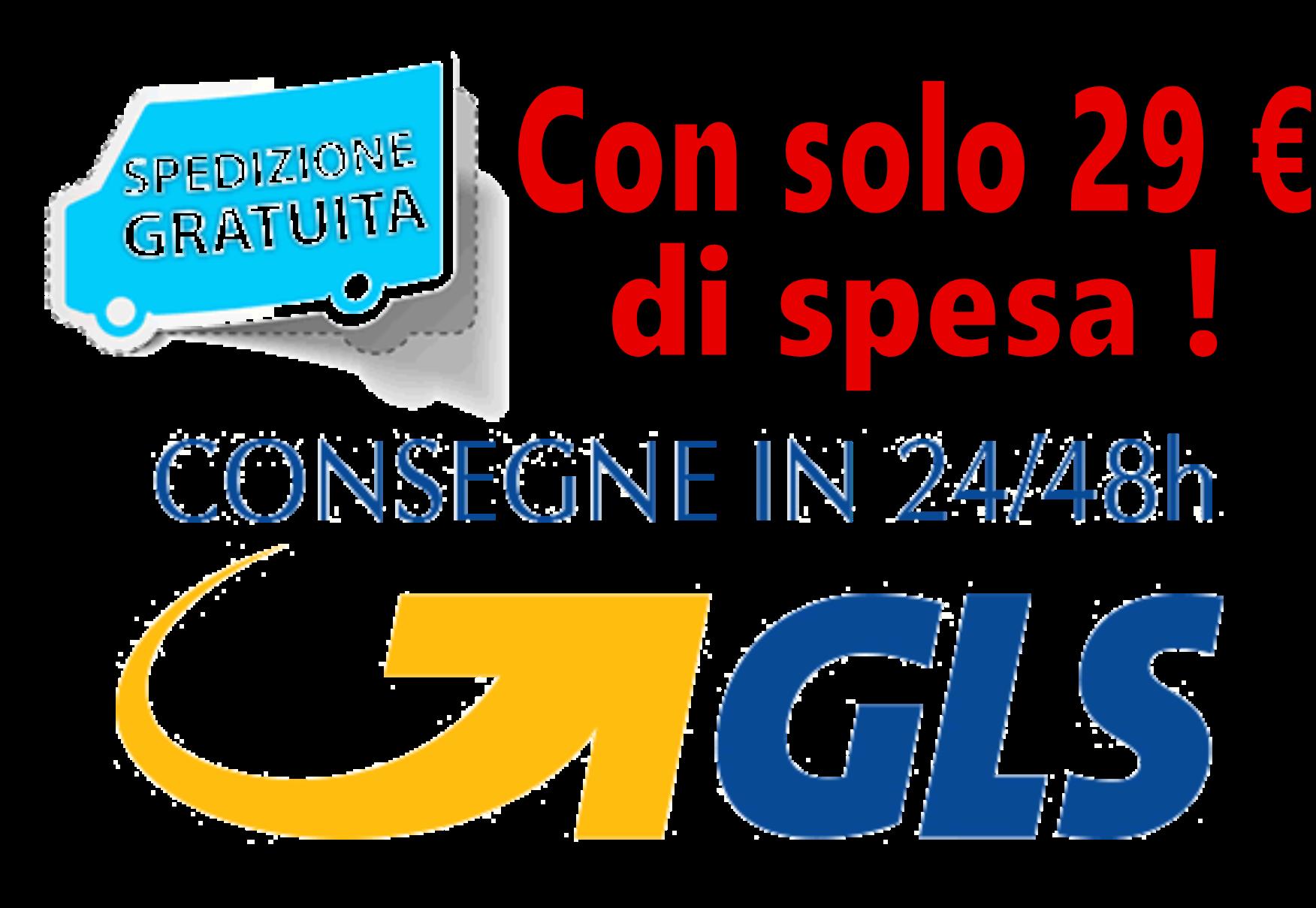 Spedizioni gratis con corriere espresso GLS
